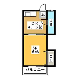 第6光ハイツ[2階]の間取り