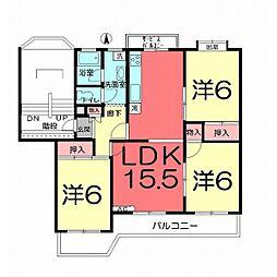 奈良町団地10号棟505号室[505号室]の間取り