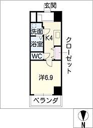 ノステルコート岡崎[7階]の間取り