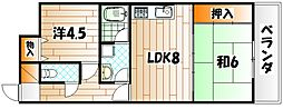 枝光スカイマンション[6階]の間取り