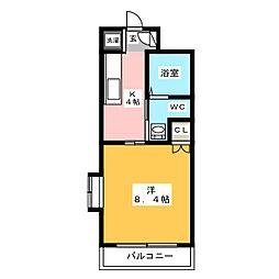 アセットヒルズディアフィオーレ博多[6階]の間取り