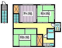 第一石澤荘[2階]の間取り