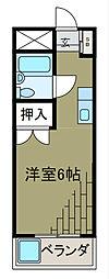 メゾンオモテ[2階]の間取り