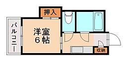 第一中川ビル[4階]の間取り