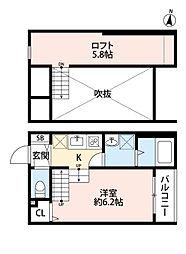 INFIELD箱崎(インフィールド箱崎)[1階]の間取り