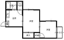 長崎県長崎市泉3丁目の賃貸アパートの間取り
