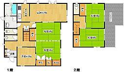 [一戸建] 兵庫県高砂市今市1丁目 の賃貸【/】の間取り