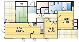 サンマークスだいにちエアタワーレジデンスB棟 2階3LDKの間取り