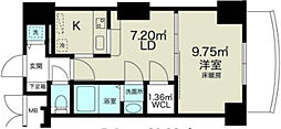 ノルデンタワー新大阪アネックス[15階]の間取り