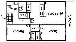 サン・リヴァージュ岸和田[3階]の間取り