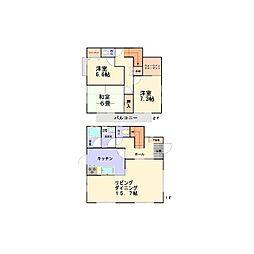 [一戸建] 茨城県つくば市松代3丁目 の賃貸【茨城県 / つくば市】の間取り