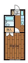 ビレッジハヤ[2階]の間取り