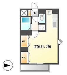 Comodo Motoyama(コモドモトヤマ)[1階]の間取り