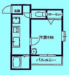 コナ山重[3階]の間取り