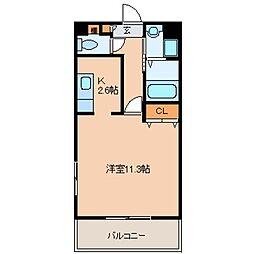 東京都福生市武蔵野台1丁目の賃貸アパートの間取り