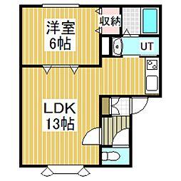 バニヤン・コート元町[2階]の間取り