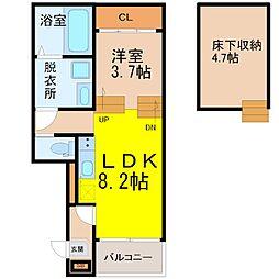 野田1丁目A・SKHコーポ[1階]の間取り
