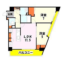 フォーエレメンツ竹ノ塚[1003号室]の間取り