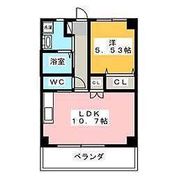 アドバンスM[5階]の間取り