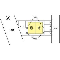 (仮)D-room大桑[202号室]の外観