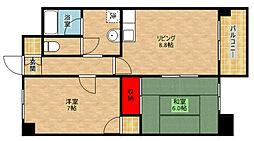 シャトーパルテール[4階]の間取り