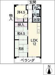 ウヌマタウンC[3階]の間取り