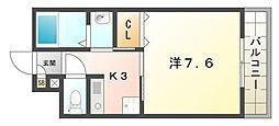 大阪府門真市寿町の賃貸マンションの間取り