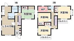 [一戸建] 愛知県名古屋市名東区大針3丁目 の賃貸【/】の間取り