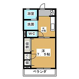 コンフォート・安東[2階]の間取り