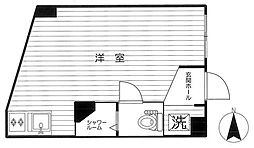 東京都港区白金2丁目の賃貸アパートの間取り