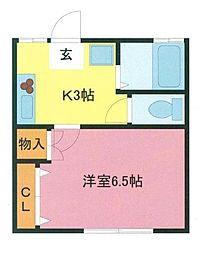 埼玉県さいたま市浦和区領家3丁目の賃貸アパートの間取り