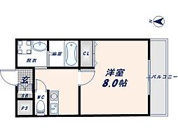 フェニックス東大阪1[3階]の間取り