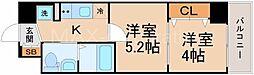 エグゼ新北野[5階]の間取り