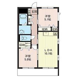 メゾングレースA[1階]の間取り