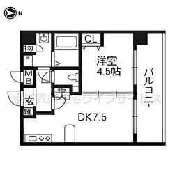 プレサンス京都三条大橋鴨川苑212[2階]の間取り