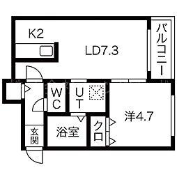 GARE24K[4階]の間取り