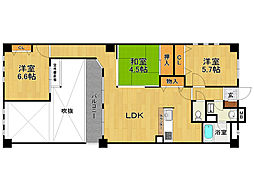 兵庫県伊丹市伊丹7丁目の賃貸マンションの間取り