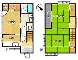 [一戸建] 千葉県船橋市馬込西1丁目 の賃貸【/】の間取り