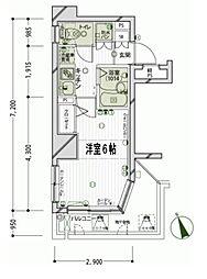 東京都港区三田1丁目の賃貸マンションの間取り