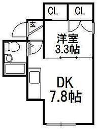 コーポクイント[1階]の間取り