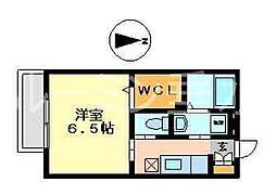 片山ハイツ[1階]の間取り
