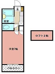PLEAST医生ヶ丘II[102号室]の間取り
