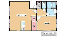 兵庫県神戸市東灘区御影本町3丁目の賃貸アパートの間取り