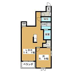 ローダンセ883[1階]の間取り