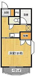 サンガーデン江曽島[401号室]の間取り