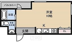 ロジス江坂[6階]の間取り
