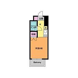 ウィンドプラザ[4階]の間取り