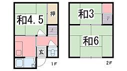 [テラスハウス] 兵庫県姫路市五軒邸4丁目 の賃貸【兵庫県 / 姫路市】の間取り