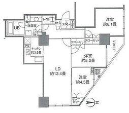 カスタリアタワー品川シーサイド[16階]の間取り