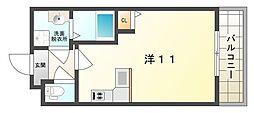 パーラム守口[7階]の間取り